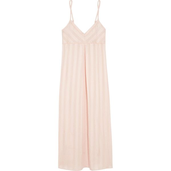 Bodas Shadow Stripe cotton nightdress ( 31) ❤ liked on Polyvore featuring  intimates d70714ff1