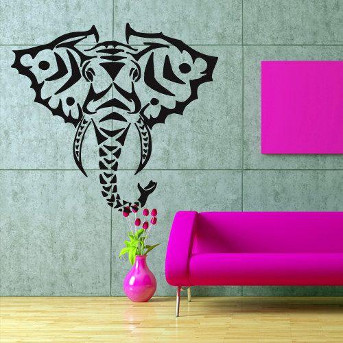 Wall Decal Art Decor Decals Sticker Animal Head Good Life Elephant