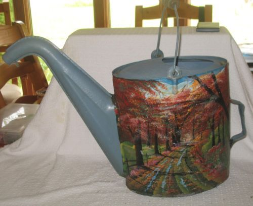 Vintage Country Lane Antique Watering Can