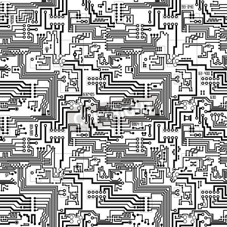 Circuit Board Vector Computer Seamless Technological Background