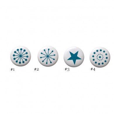 Bouton De Tiroir En Porcelaine Bleu Canard Bloomingville Supplies