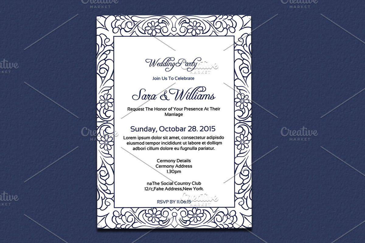 Wedding Invitation Template Wedding Invitation Card Template Wedding Invitation Templates Modern Wedding Invitation Wording