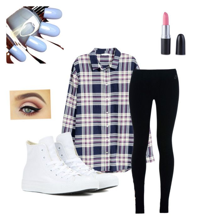 """""""no one really knows"""" by arbaugh-madison on Polyvore featuring H&M, NIKE and Converse"""