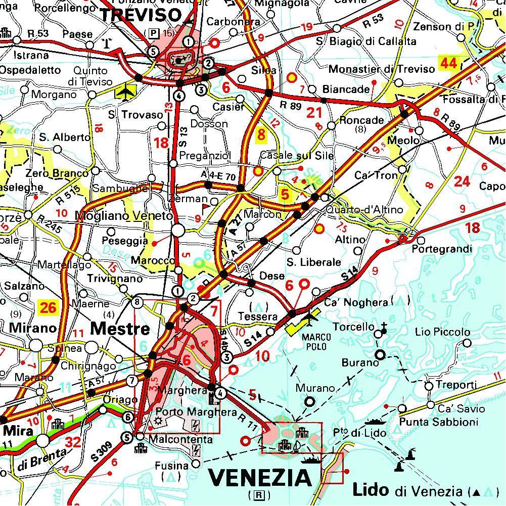 Cartina Stradale Italia Nord Est.Carta Stradale Italia Nord Est Stradale Carta Italia Est