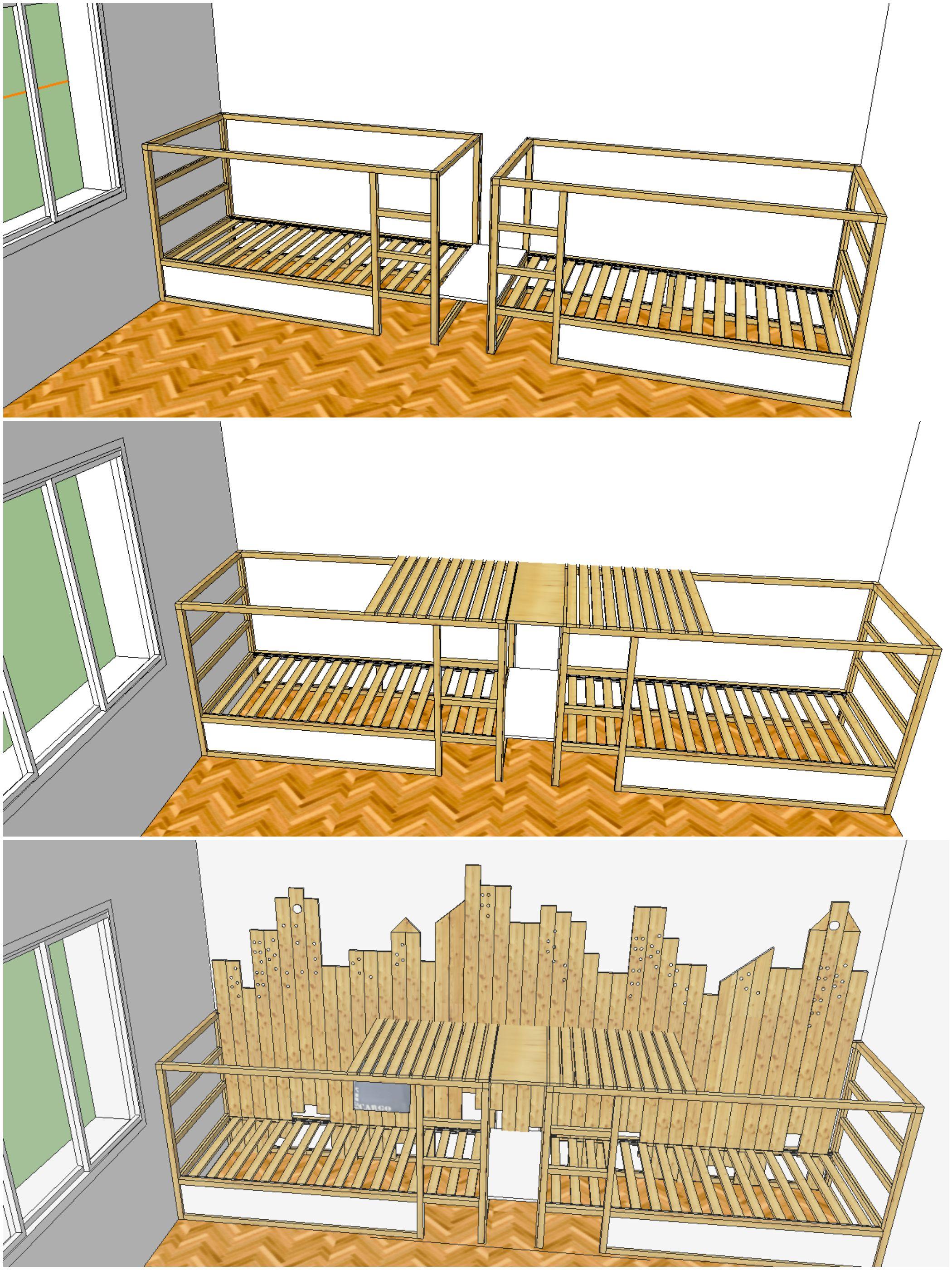 IKEA KURA HACK triple bunk bed Mommo Design