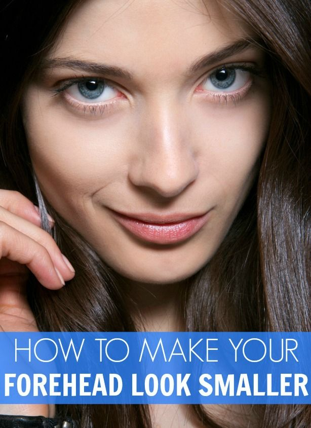 how to make forehead smaller with makeup