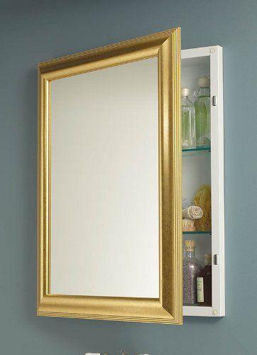 Nutone 535224 Monaco Framed Medicine Cabinet Satin Gold