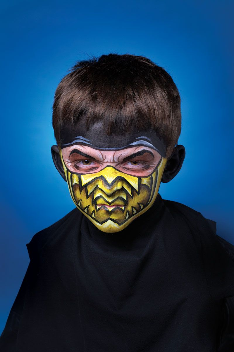 Black Clothes Awesome Face Painting The Perfect Ninja