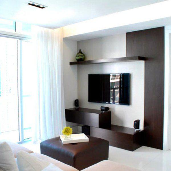 tv schrankwand gardinen design möbel Wohnen - Wohnzimmer
