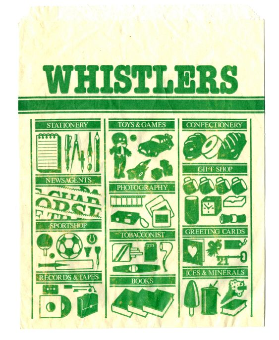 Vintage Retail Bag From Whisters The Whole Home Page Has Their Collection Of Paper