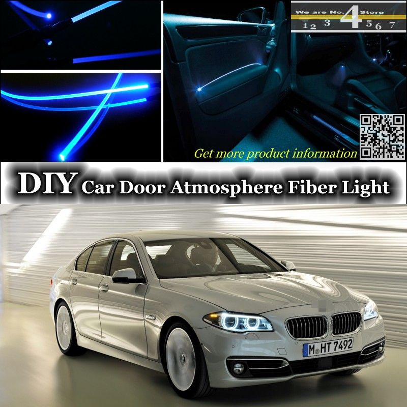 For Bmw 5 M5 F10 F11 F07 Interior Ambient Light Tuning Atmosphere Fiber Optic Band Lights Door Panel Illumination Not El Light Car Lights Car Bmw