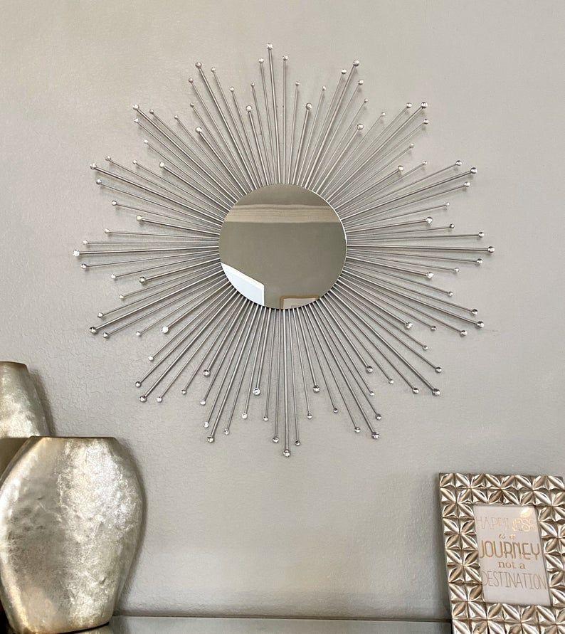 30 Sparkle Sunburst Mirror Gems Sunburst Mirror Etsy In 2020 Sunburst Mirror Gold Sunburst Mirror Starburst Mirror