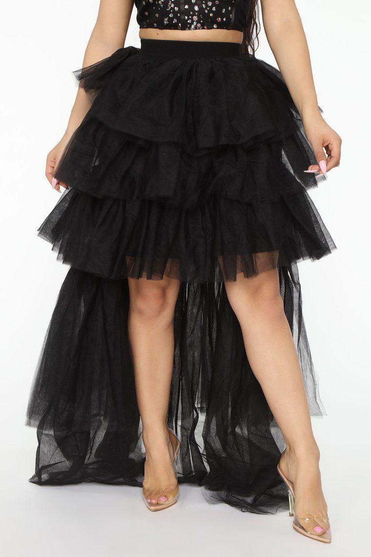 Set The Scene Tulle Skirt Black in 2020 Tulle skirt