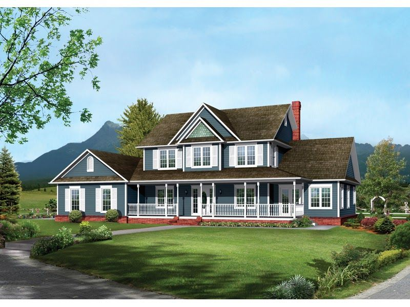 Awesome House Plans Two Story Farmhouse in 2020