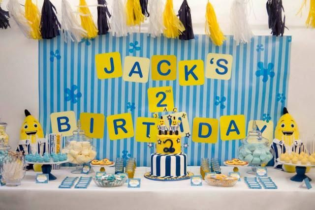 Bananas in Pyjamas Party by Rock Paper Sugar Events on The Little Big Company Blog. #kids #birthday #parties #bananas