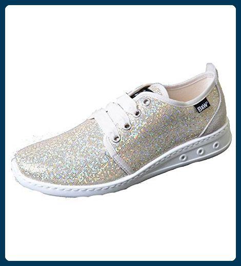 Rismart Damen Keil Ferse Schnüren Beiläufig Weich Leder Ausbilder Sneaker Schuhe 25003(Weiß,EU38)