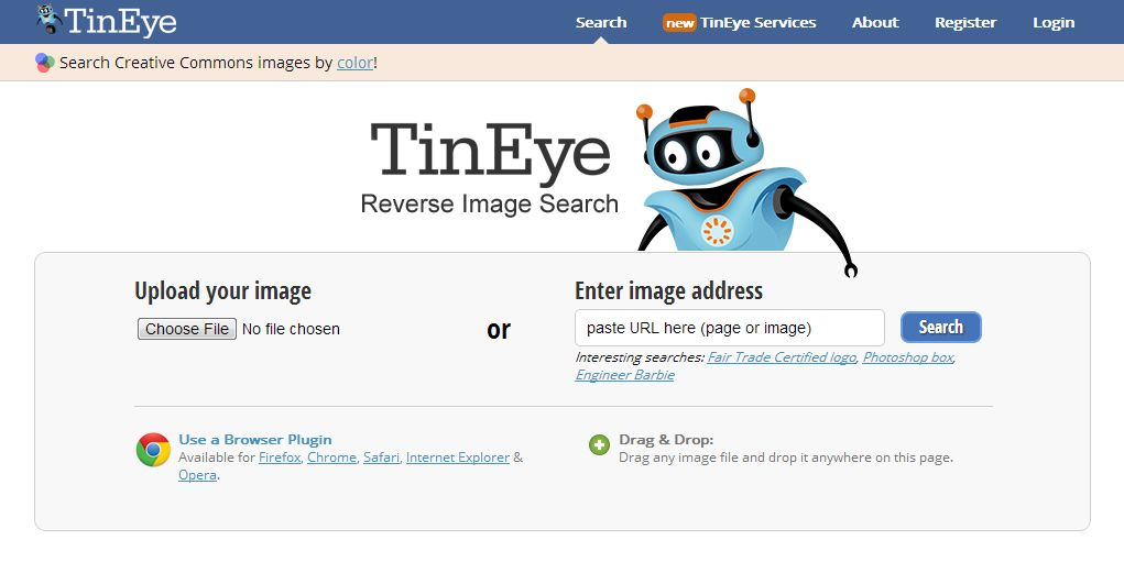 Where Are My Photos Using Tineyesearch Reverse Image Search