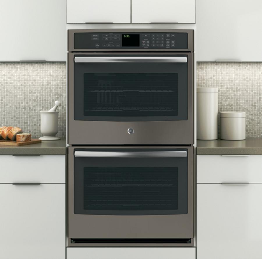 Slate No Fingerprints Wall Oven Pt7550ehes Ge Appliances Wall