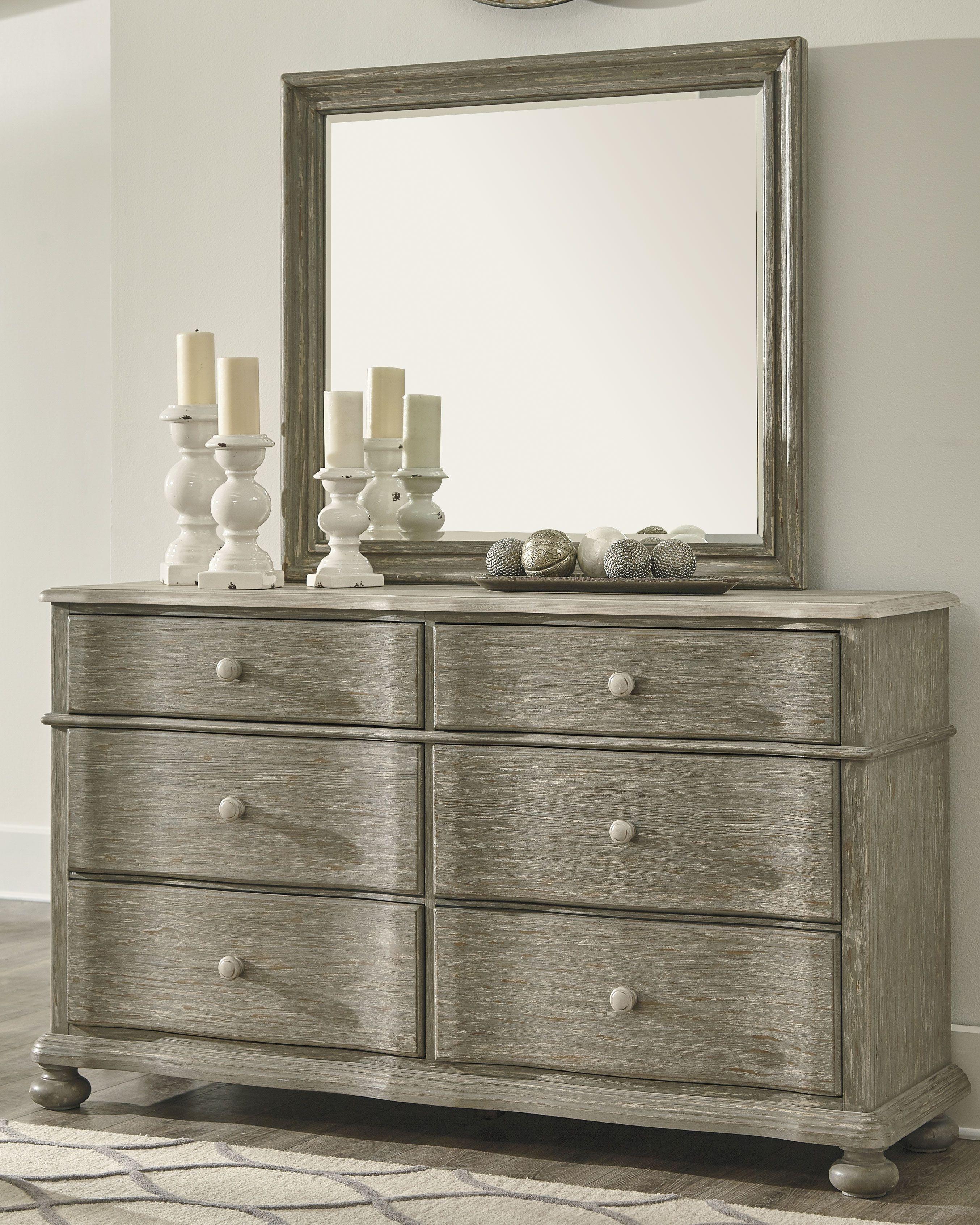 Marleny Dresser Gray Whitewash Grey Bedroom Furniture Small Kitchen Furniture Furniture