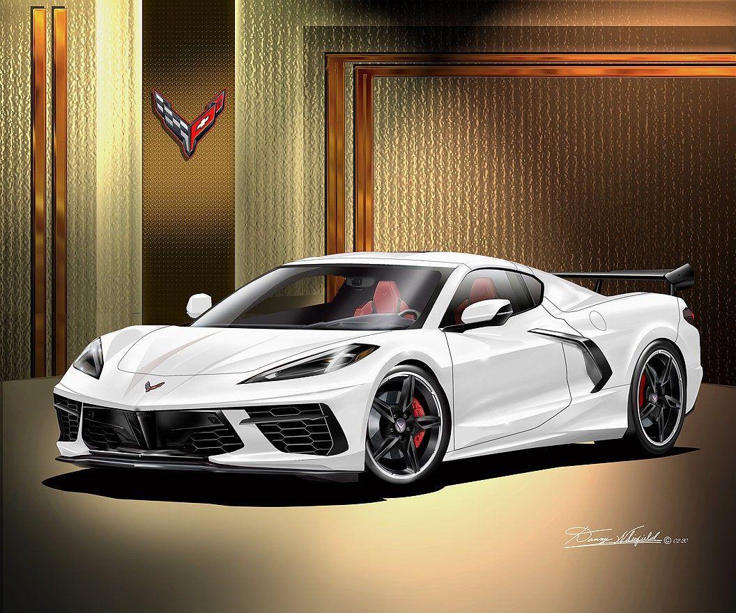2020 C8 Corvette Stingray Fine Art Prints By Danny Whitfield Etsy Corvette Stingray Corvette Super Luxury Cars