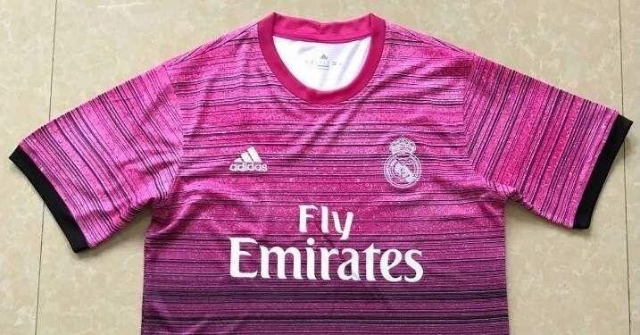camiseta real madrid rosa