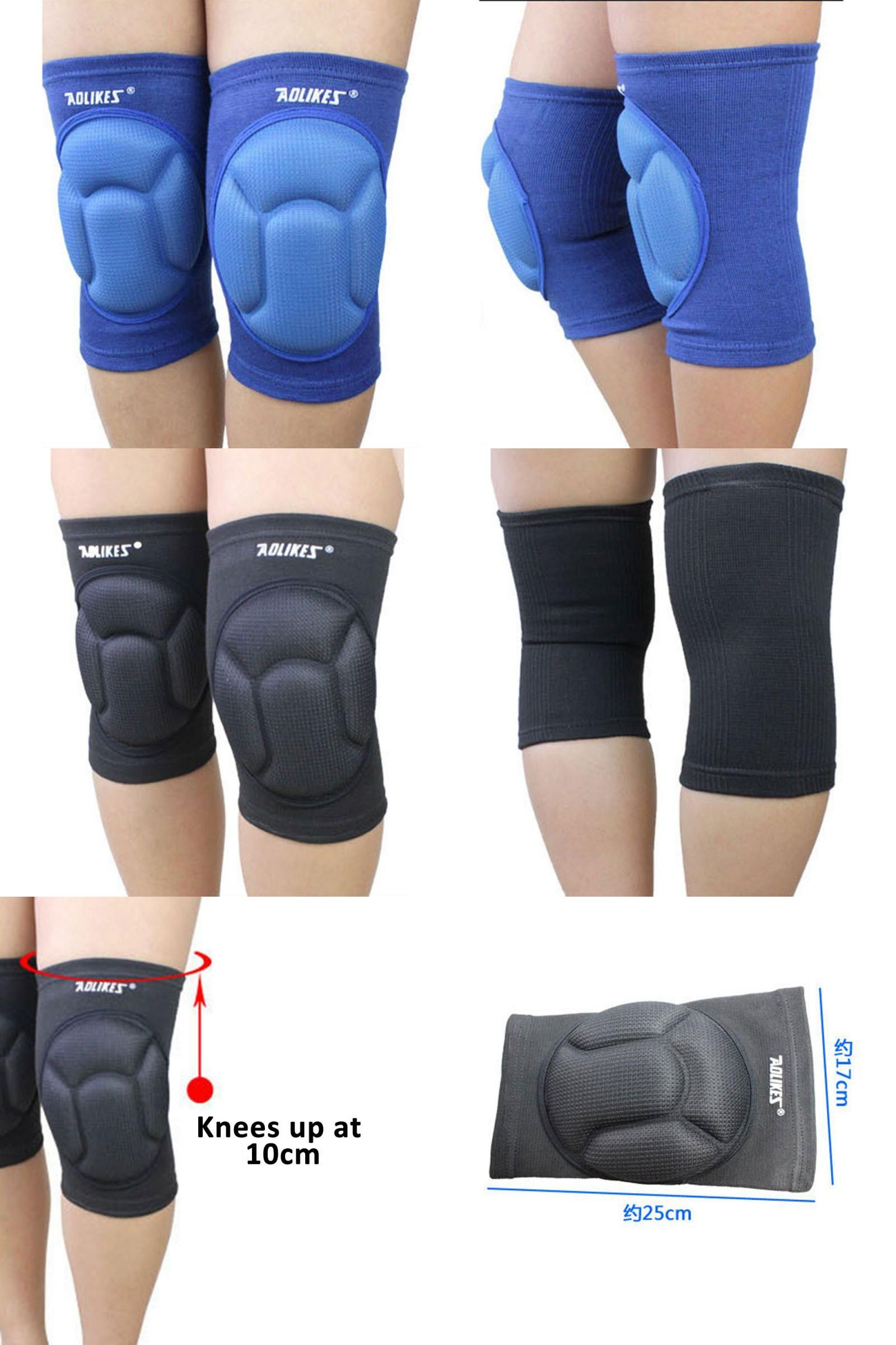 Visit To Buy 1pair Thickening Football Volleyball Extreme Sports Knee Pads Brace Support Protect Cycling Knee Pro Extreme Sports Sports Accessories Knee Pads