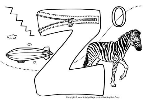 I Spy Alphabet Colouring Page Z Alphabet Coloring Pages