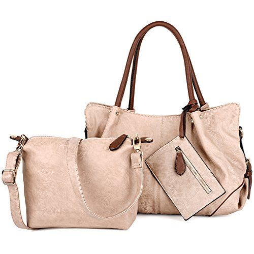 b626859c07c5 UTO Women Handbag Set 3 Pieces Bag PU Leather Tote Small ...