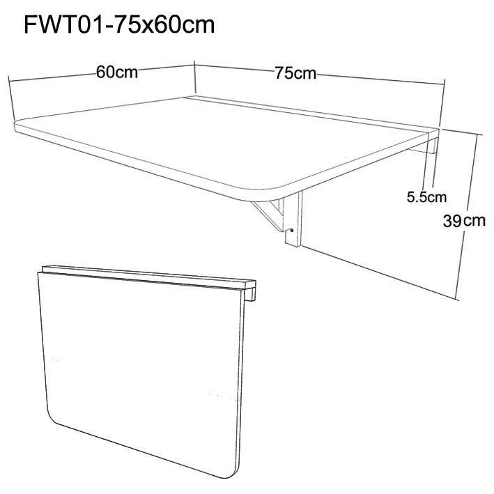 Ebaycouk Itm SoBuy Folding Wall Mounted Drop Leaf Table Shelf Dining FWT UK 231226851497