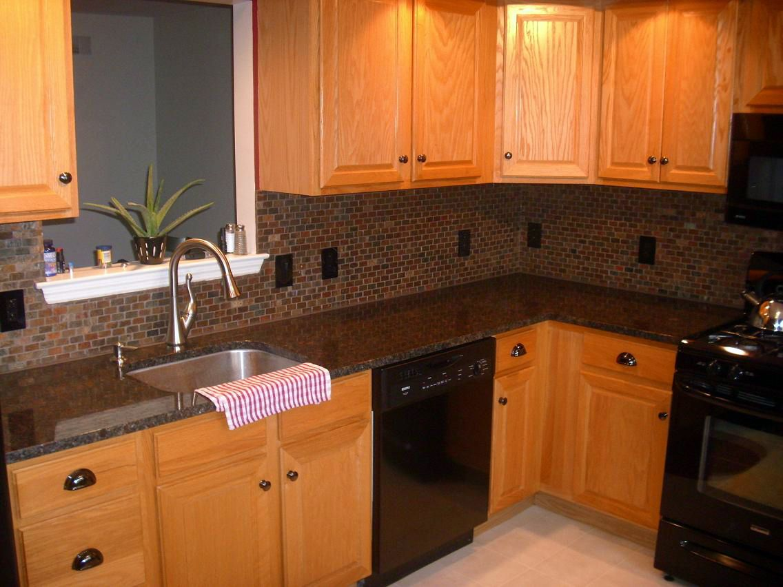 Tan Brown Granite Backsplash Ideas Part - 22: Tan Brown Granite Kitchen Countertop Finished Installed Granix