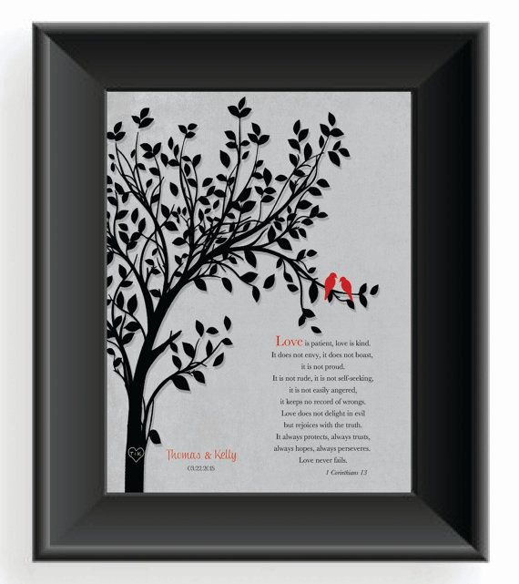 First Anniversary Gift For Husband Or Wife By Kreationsbymarilyn