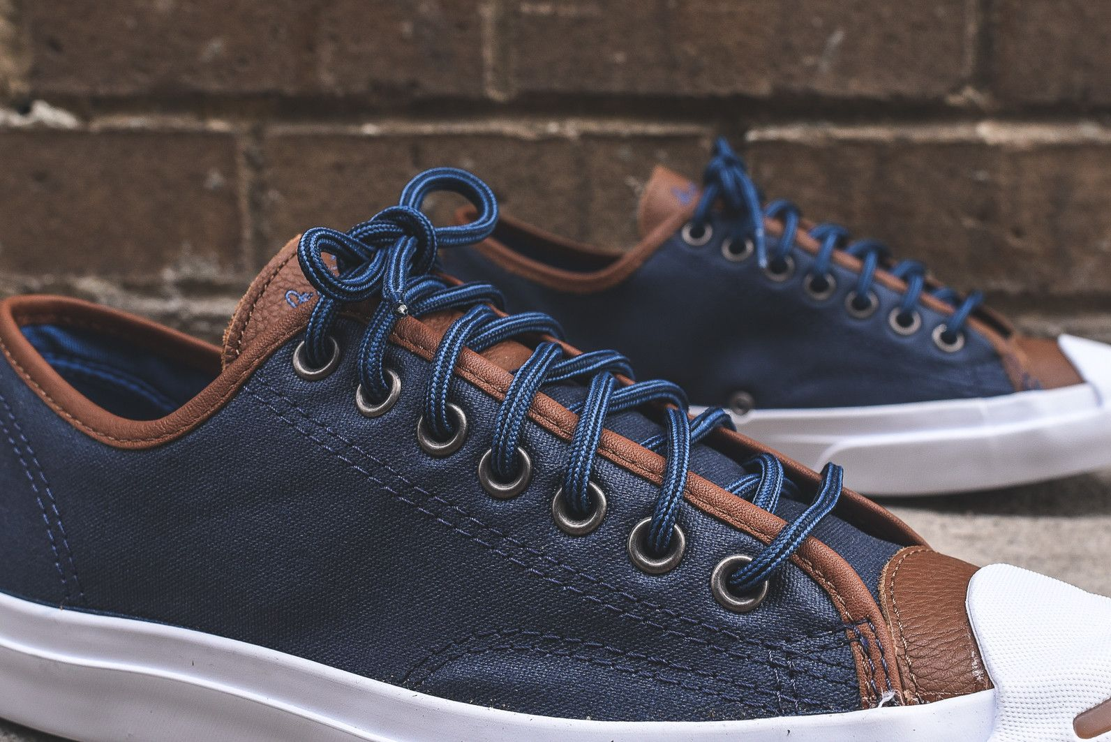 68b67d968095 Converse Jack Purcell - Nighttime Navy   Tobacco