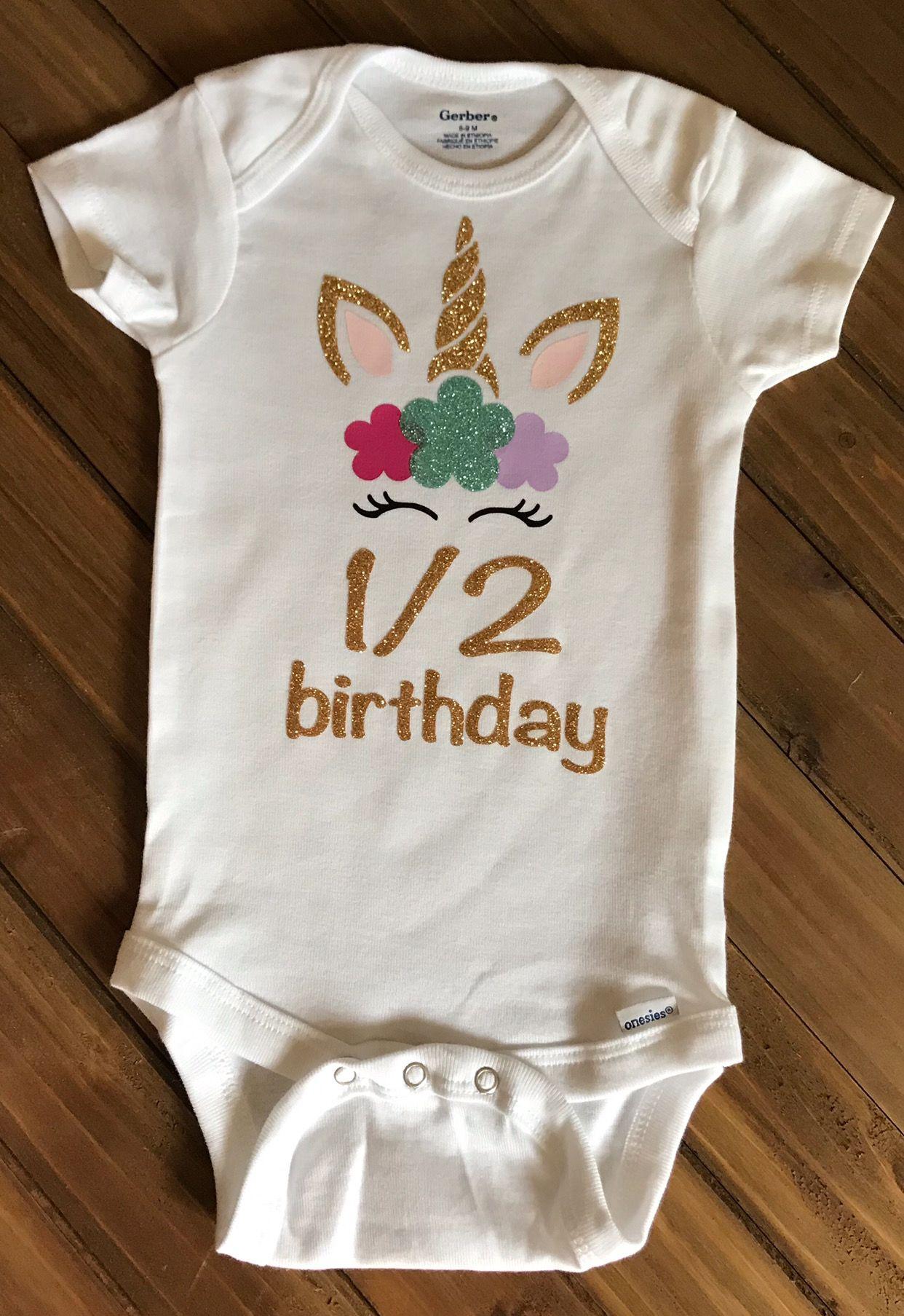 Gift for 1 Year Old Baby Girl 1st Birthday Gift Unicorn Infant Kids T-Shirt