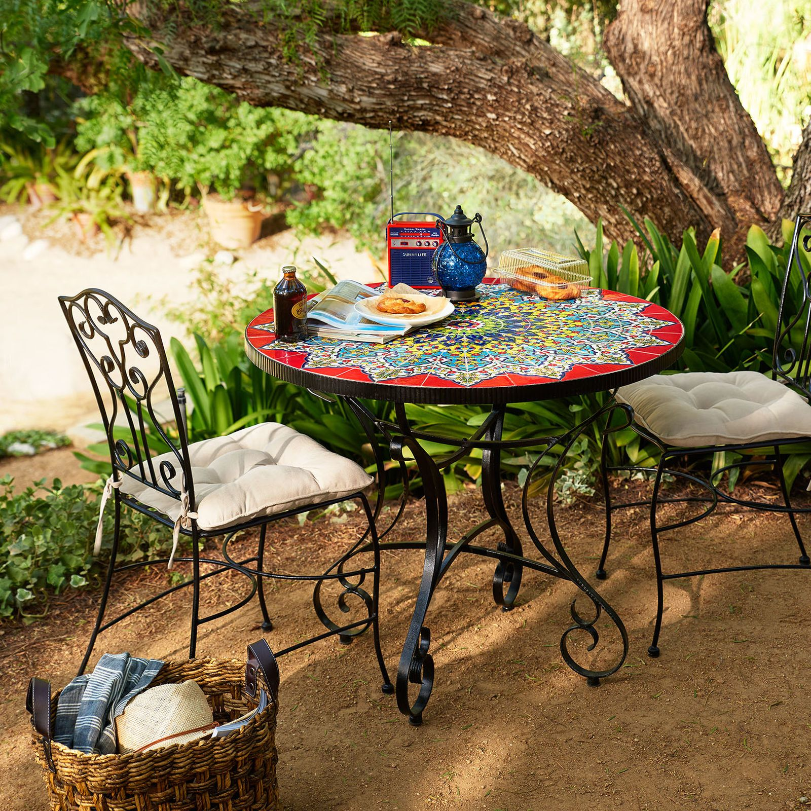 """In Spanish The Name Emilio Means """"Flattering""""—Which Is A Great Impressive Mosaic Dining Room Table Decorating Design"""