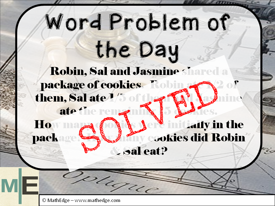 Pin On Word Problem Of The Day