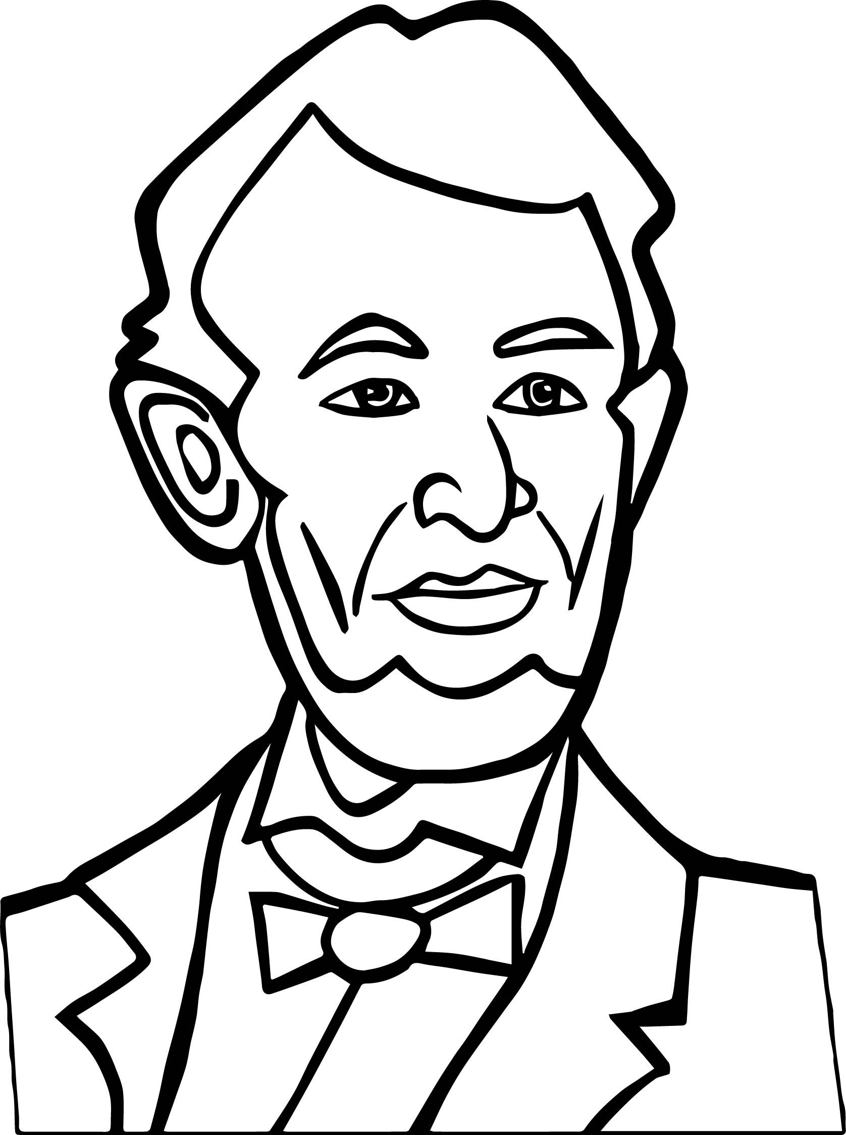 Awesome Abraham Lincoln President Good Coloring Page