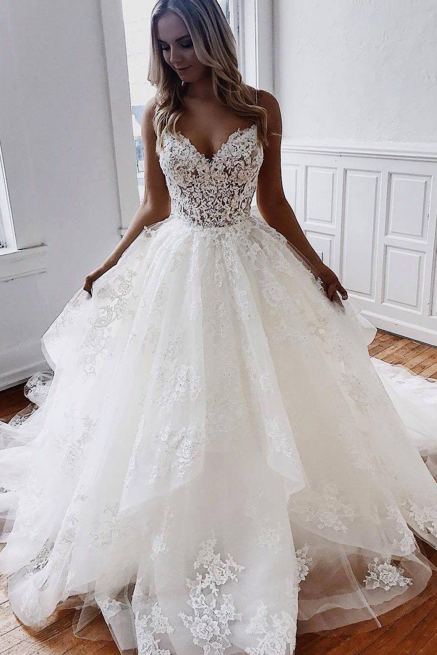 Cheap Wedding Gowns 2018 Top Wedding Dresses Ball Gown Wedding Dress Bridal Gowns Mermaid [ 1349 x 900 Pixel ]