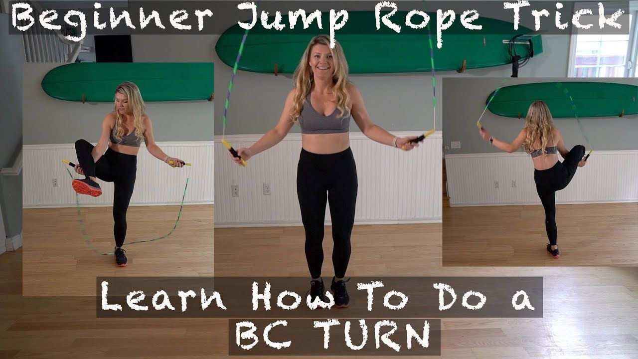 Beginner jump rope trick learn how to do a bc turn