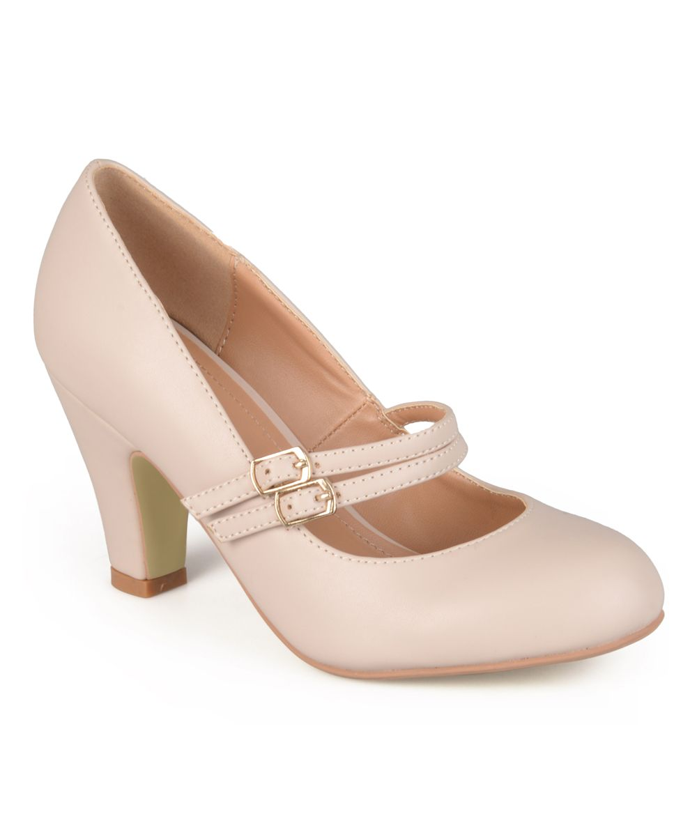 23d2048d2e8 Nude Windy Mary Jane Thick Heels Pumps