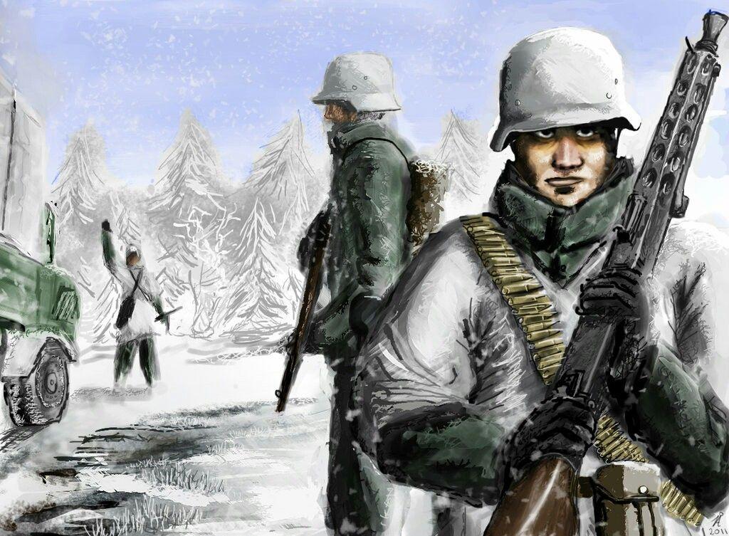 Christmas in Bastogne, December 1944.