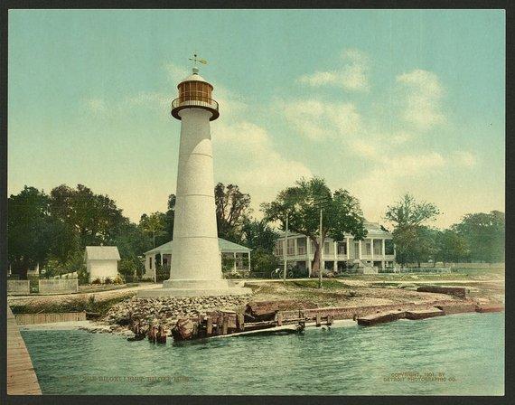 The Biloxi Light Biloxi Miss 1901 Vintage Photo Postcard