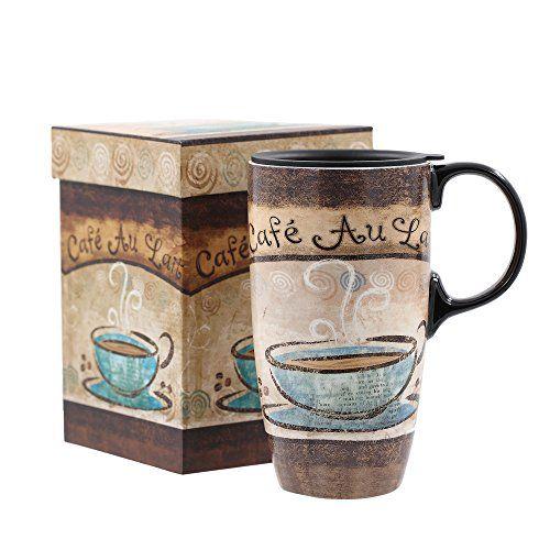 A Ting Tall Ceramic Travel Mug 17 Oz Sealed Lid With Gif Https Www Amazon Com Dp B06xhvn1kn Ref Cm Sw R Pi Dp X 3j Zbz7352 Mugs Disposable Cups Ceramics