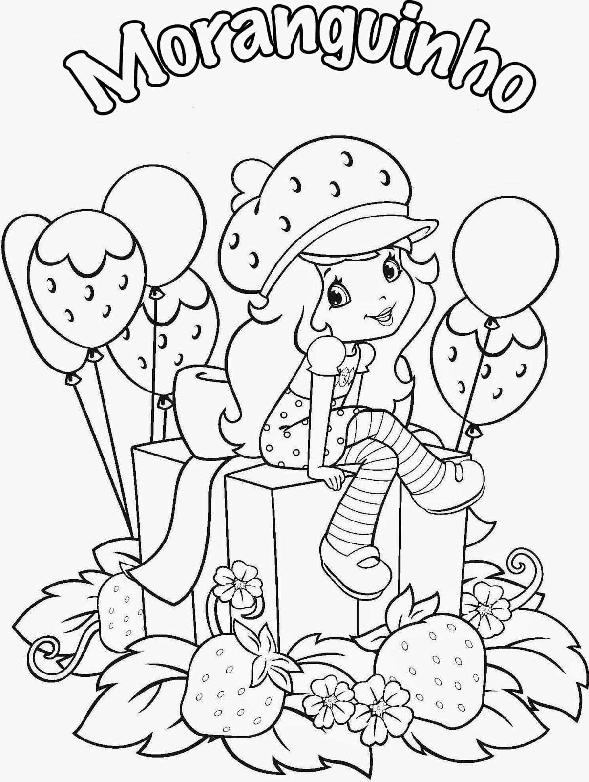 Desenhos Para Meninas Colorir E Imprimir Desenho Moranguinho
