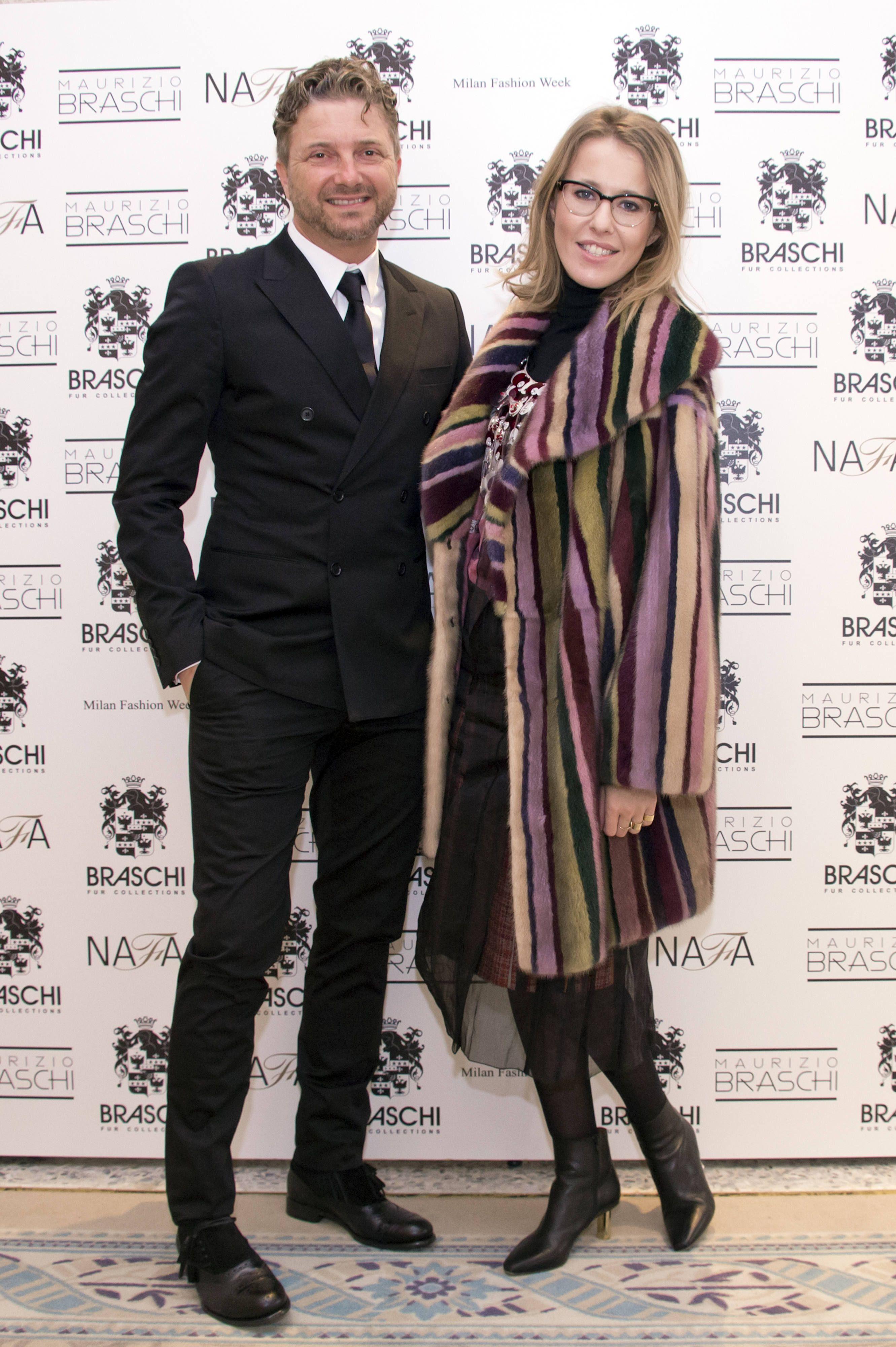 Ksenia Sabchiak and Maurizio Braschi #braschi #fur #celebrity #fashion #glamour #style #classy #luxury