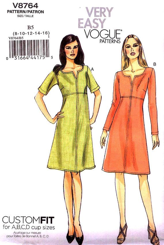 Brand New Very Easy VOGUE Pattern v8764 MISSES Size 8-16 Classic ...
