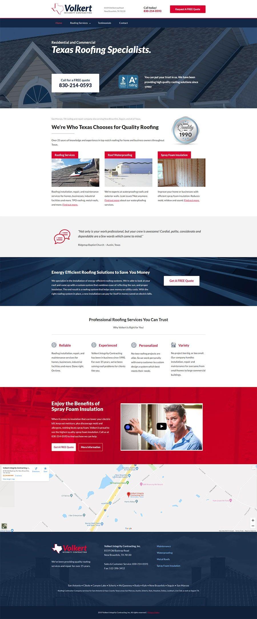 Custom Wordpress Website Design Website Design Wordpress Website Design Roofing