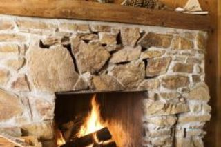 How To Brighten And Lighten A Stone Fireplace Cast Stone Fireplace Lava Rock Fireplace Stone Fireplace