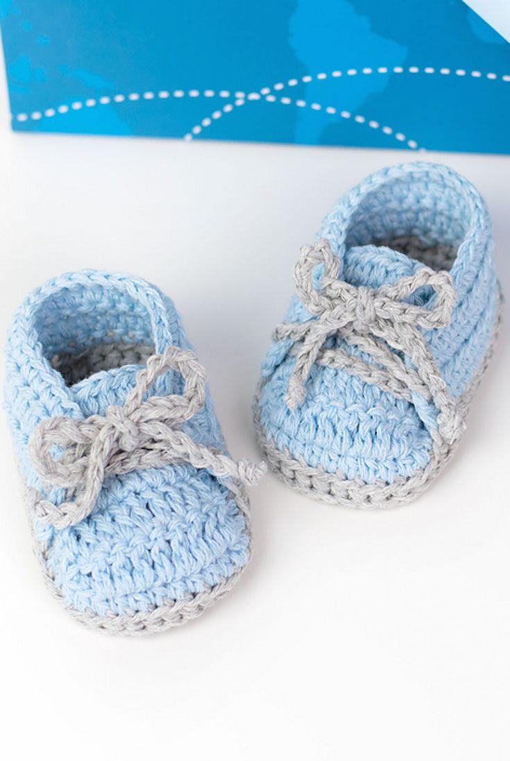 Free Pattern] Cute And Easy Baby Sneakers | Bebe, Escarpines y ...