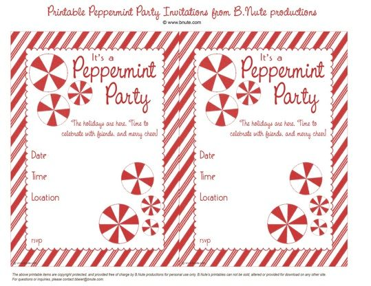 Free Vintage Invites Printables Holiday Party Invitation