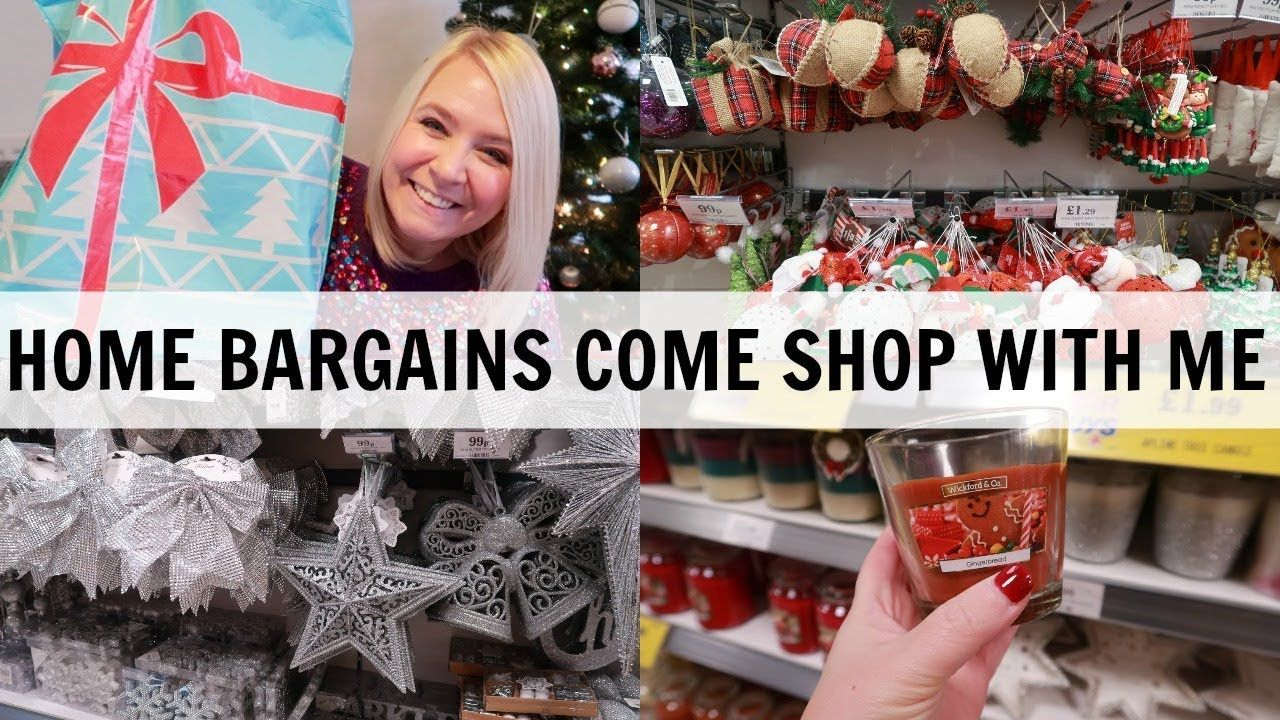 Home Bargains Christmas Come Shop With Me And Haul Shopping Haul Christmas